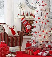 白色的圣诞树