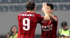 武磊轰门柱海森越位破门 东亚1-0国安