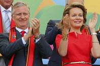 比利时国王王后观战