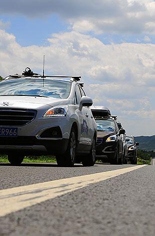 车队进入内蒙古地区