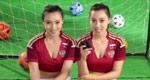 双胞美女流汗挑逗世界杯