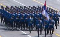 塞尔维亚代表团方队