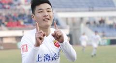 武磊梅开二度杜震宇染红 亚泰0-2上港