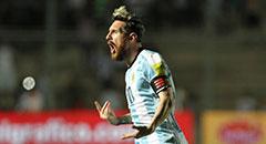 世预赛-阿根廷3-0哥伦比亚 梅西激情咆哮