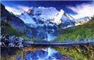 亚丁神山震撼雪崩似白龙