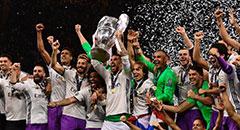 欧冠-皇马4-1尤文 拉莫斯举杯