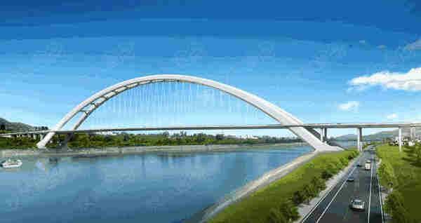 双向六车道全长2939米蓝田长江大桥指日可待