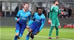 欧联-米兰0-2阿森纳 拉姆塞握拳兴奋狂奔