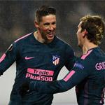托雷斯两球 马竞5-1总比分8-1晋级欧联杯八强