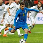 友谊赛俄罗斯0-3巴西