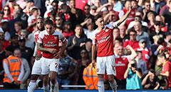 英超-阿森纳2-0 厄齐尔庆祝破门